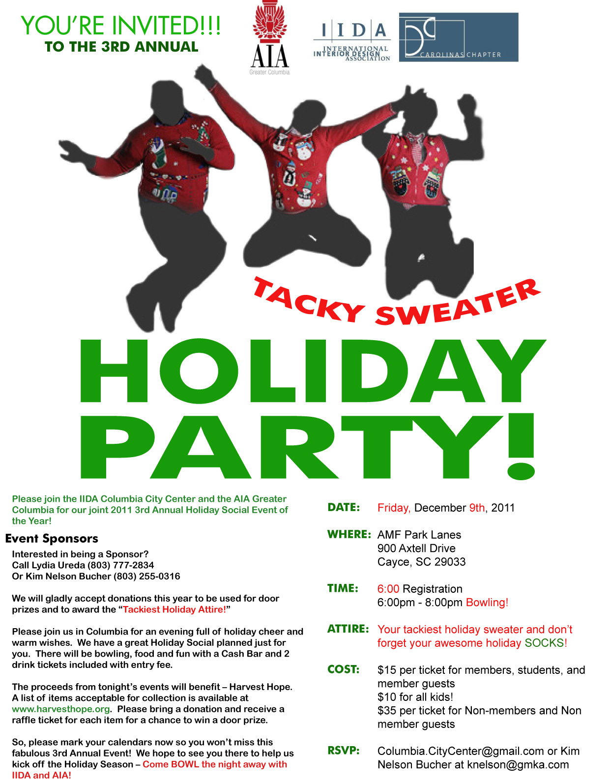 Tacky Sweater Holiday Party!! Friday Dec. 9th | aiacolumbia