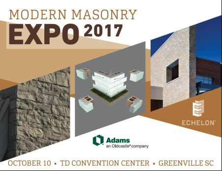 Modern Architecture Greenville Sc register now: adams oldcastle modern masonry expo 2017 on october